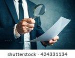 tax inspector investigating... | Shutterstock . vector #424331134