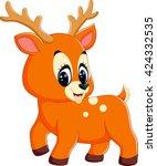 illustration of cute deer... | Shutterstock .eps vector #424332535