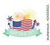 happy 4th of july  independence ... | Shutterstock .eps vector #424333021