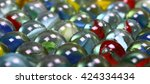 Close Up Of Glass Marbles