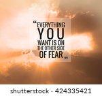 inspirational quote  ...   Shutterstock . vector #424335421