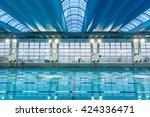 empty evening pool | Shutterstock . vector #424336471