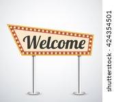 light frame  retro billboard.... | Shutterstock .eps vector #424354501