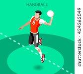 vector isometric handball... | Shutterstock .eps vector #424362049