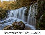 sgwd clun gwyn  long exposure... | Shutterstock . vector #424366585