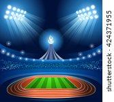 summer games. stadium... | Shutterstock .eps vector #424371955