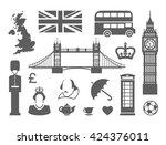 traditional symbols of... | Shutterstock .eps vector #424376011