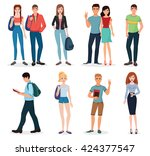 international young people... | Shutterstock .eps vector #424377547