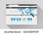 vector web browser design with...