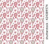 vector balloons. festive... | Shutterstock .eps vector #424389574