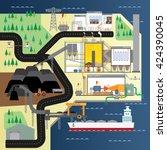 coal power plant | Shutterstock .eps vector #424390045