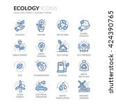 simple set of ecology related... | Shutterstock .eps vector #424390765