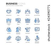 simple set of business related... | Shutterstock .eps vector #424390771