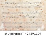 Music Sheet Background With...