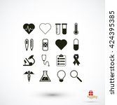 medical icons | Shutterstock .eps vector #424395385