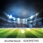 lights at night and stadium | Shutterstock . vector #424395745