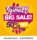 summer sale vector banner. 50...   Shutterstock .eps vector #424398631