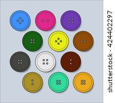 set of buttons for clothing ... | Shutterstock .eps vector #424402297