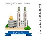 mosque of the divinity in dakar ...   Shutterstock .eps vector #424418071