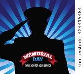 Memorial Day Saluting Soldier...