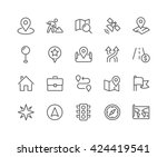 simple set of navigation... | Shutterstock .eps vector #424419541