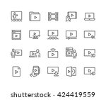 simple set of video related... | Shutterstock .eps vector #424419559