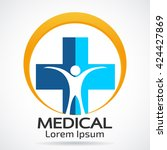 medical logo vector template | Shutterstock .eps vector #424427869