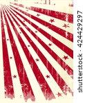 grunge sunbeams paper. a grunge ... | Shutterstock .eps vector #424429297