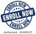 enroll now. stamp   Shutterstock .eps vector #424430137