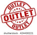 outlet. stamp | Shutterstock .eps vector #424430221