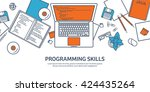programming coding background... | Shutterstock .eps vector #424435264
