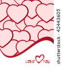 valentine's day poster | Shutterstock .eps vector #42443605