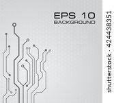 circuit board vector background | Shutterstock .eps vector #424438351