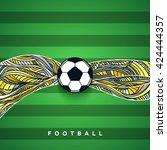 soccer ball banner with...   Shutterstock .eps vector #424444357
