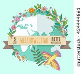 world environment day concept... | Shutterstock .eps vector #424444861