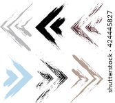cute vector geometric pattern.... | Shutterstock .eps vector #424445827