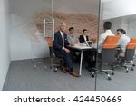 business people group... | Shutterstock . vector #424450669