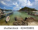 seascape of nang yuan island ... | Shutterstock . vector #424450801