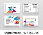 geometric vector business cards ... | Shutterstock .eps vector #424451245