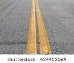 Focus On Double Yellow Lined...