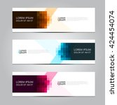 vector design banner background. | Shutterstock .eps vector #424454074