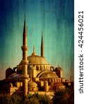 blue mosque of istanbul or...   Shutterstock . vector #424456021
