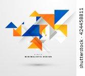 geometric vector background.... | Shutterstock .eps vector #424458811
