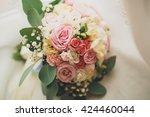 wonderful luxury wedding...   Shutterstock . vector #424460044