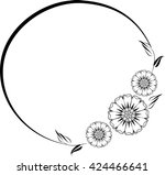 round frame with decorative... | Shutterstock .eps vector #424466641