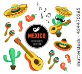 mexican culture attributes... | Shutterstock .eps vector #424470265