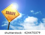 tariff  3d rendering  a yellow...