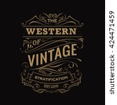 antique label hand drawn... | Shutterstock .eps vector #424471459