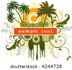 abstract floral vector... | Shutterstock .eps vector #4244728