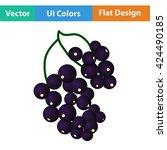 flat design icon of black...